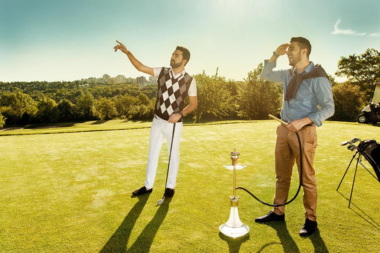 Shisha Golfplatz Maenner