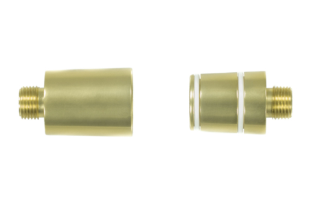 Gold Glasrauchsäulenadapter
